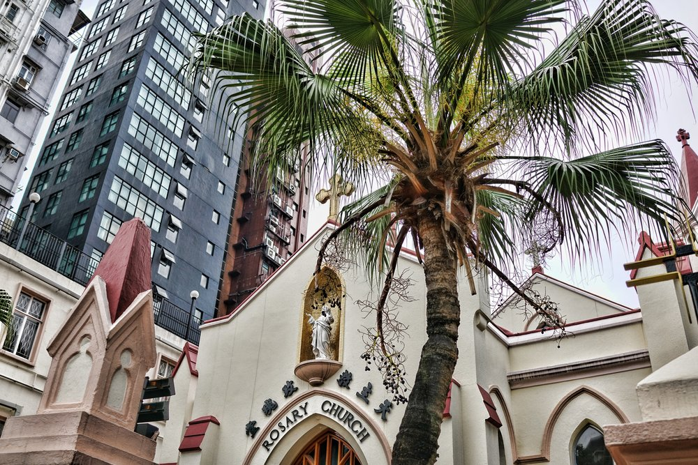 The Rosary Church on Chatham Road in TST Kowloon, this is where I got married a very long time ago!, 'tis a lovely Church.
