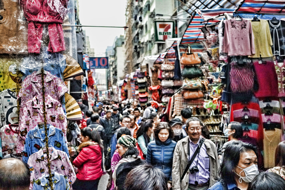 The Ladies Market, even if you are not interested in buying stuff, junk, tat etc. it is still an interesting place to visit, Mong Kok where the market is located is a very interesting part of town and very good for people watching.
