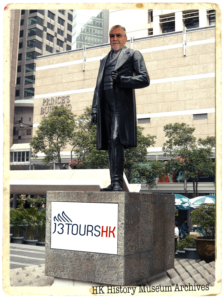 My friends have a sense of humour, that is all I am going to say, thanks Bill. I am of course Sir Jamie Fotherington - Smythe, BART. - If you are in Statue Square on Hong Kong Island please do gaze upon the real statue! of course we can do this on one of my Private Tours of Hong Kong.