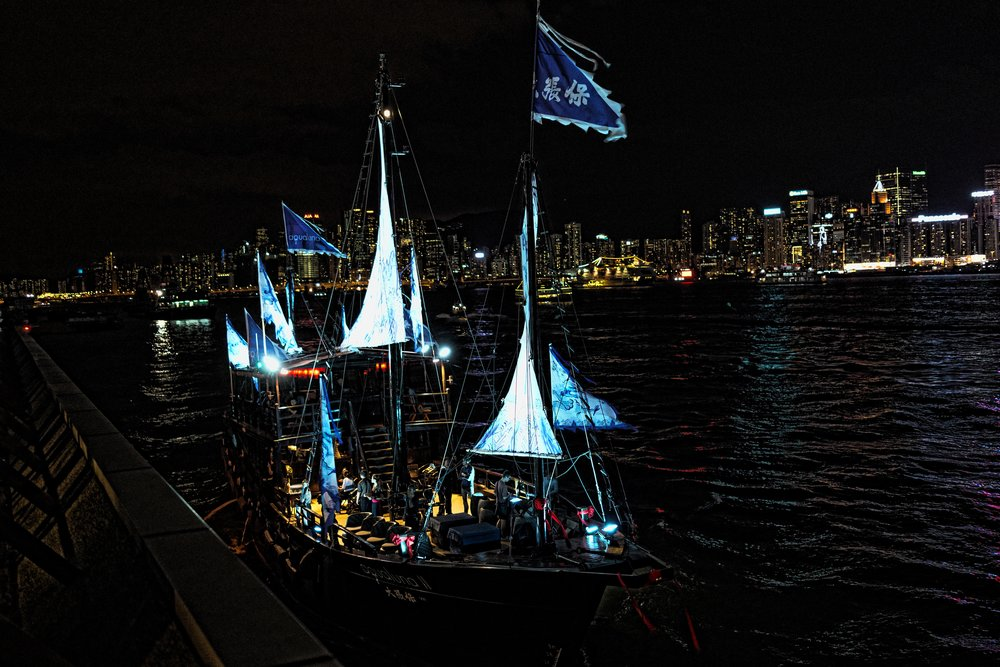 This is the Aqua Luna II - pretty darn awesome if you ask me and I just love the sails, so now we have two Aqua Luna's prowling around the harbour day and night! Night time in Hong Kong is very special and why not book one of my private Night Tours of Hong Kong, it is a lot of fun!