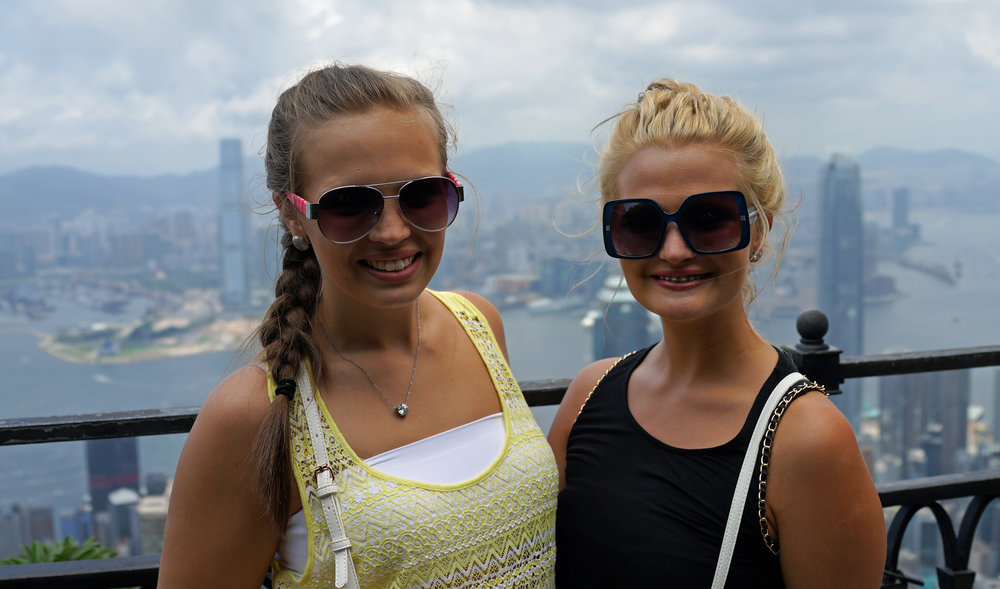 Kid Friendly Tours Hong Kong - .......and sometimes I do tours with young adults(!) under 16 without their parents or guardians in tow! kids of all ages are always amazed at the view from my spot at the Peak.. Jennifer and Sidney (both 15) certainly were and this is one of the best spots in the world to take selfies to post on Instagram and such.