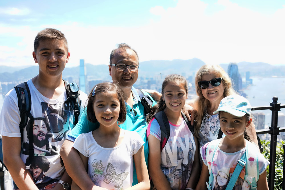 Kid Friendly Tours Hong Kong -  Meet Kelvin, Marion and the kids at my spot at the Peak, we had a blast on our private tour of Hong Kong.