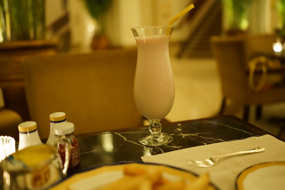 Kid Friendly Tours Hong Kong -  So here's the thing, I love milkshakes and kids love milkshakes and the best ones in Hong Kong can be had in the Peninsula Hotel, TST, Kowloon, they are amazing and I would recommend a quick stop there if we are in the area, oh, and order a plate of french fries that perfectly compliment the milkshake.
