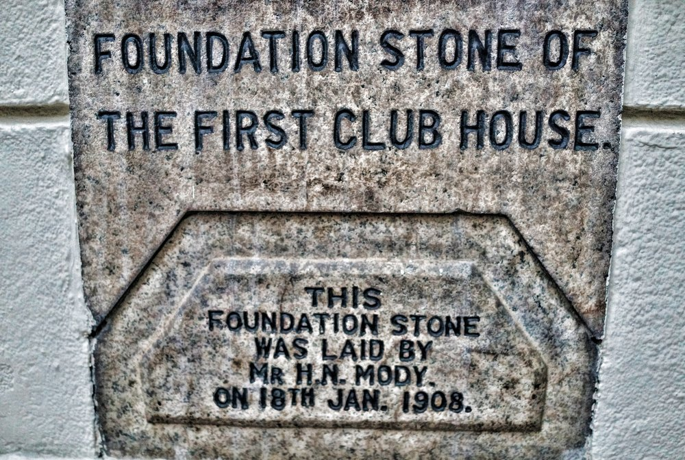 Even back in the day there was a thing for lucky numbers in Hong Kong... here at the Kowloon Cricket Club the laying of the foundation stone on January 18th 1908 is as lucky as it gets! awesome!