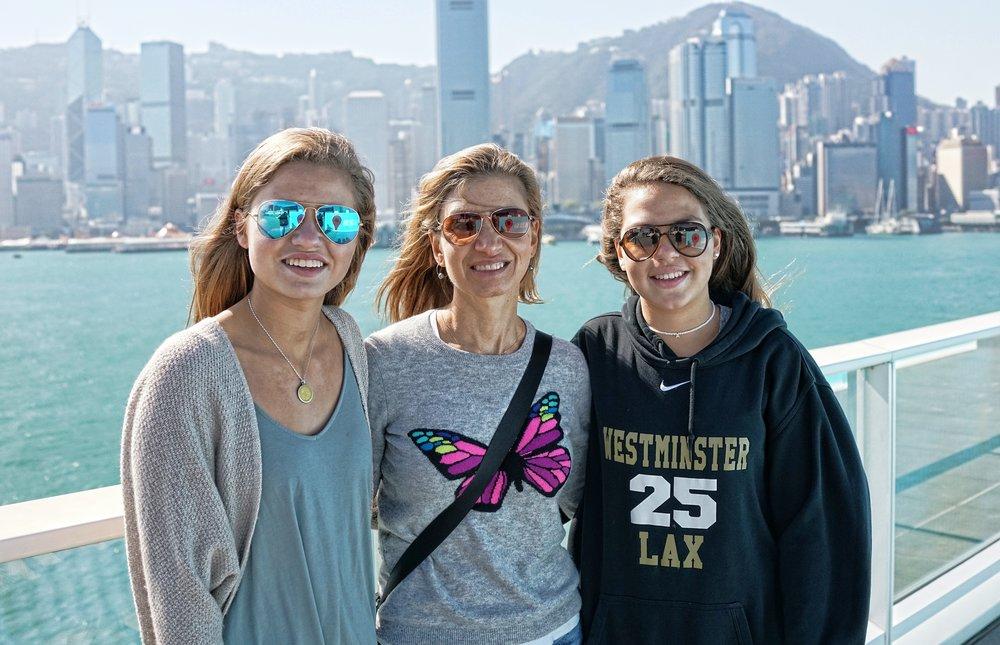 Julia, Kim + Anna at Ocean Terminal Deck.JPG