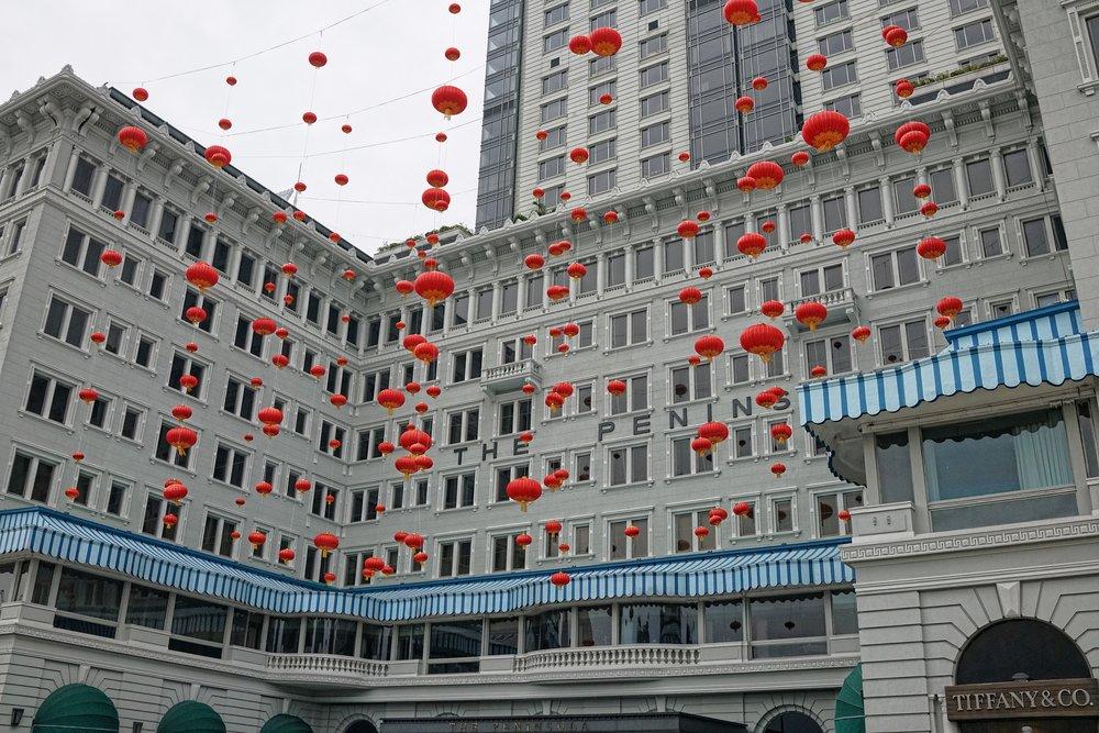 Peninsula Hotel - Chinese New Year Decorations.JPG