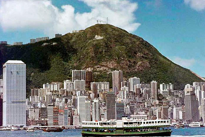 |  That  Hong Kong Island amazing skyline in 1974 |