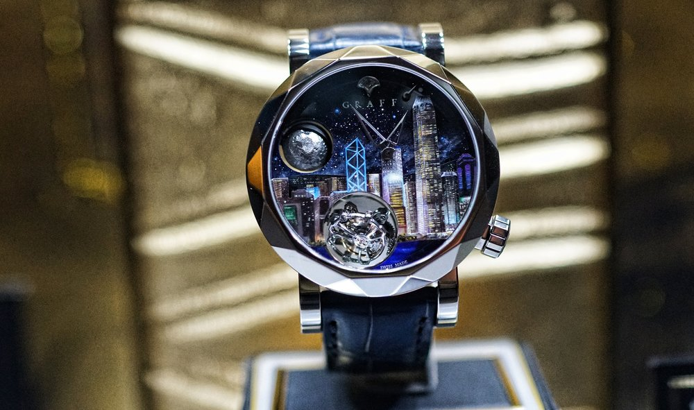 What a magnificent watch depicting Hong Kong by Graff Jewellers, a very famous Jewish Company with 3 stores in Hong Kong -
