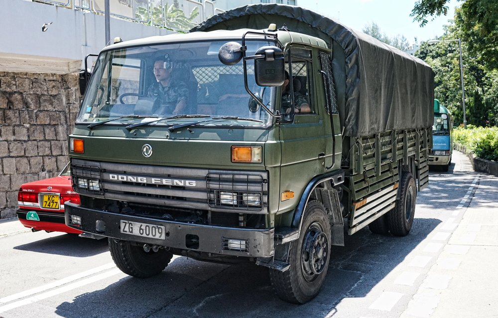 Mainland Chinese Army Truck, The Hong Kong Country Club, Hong Kong.JPG