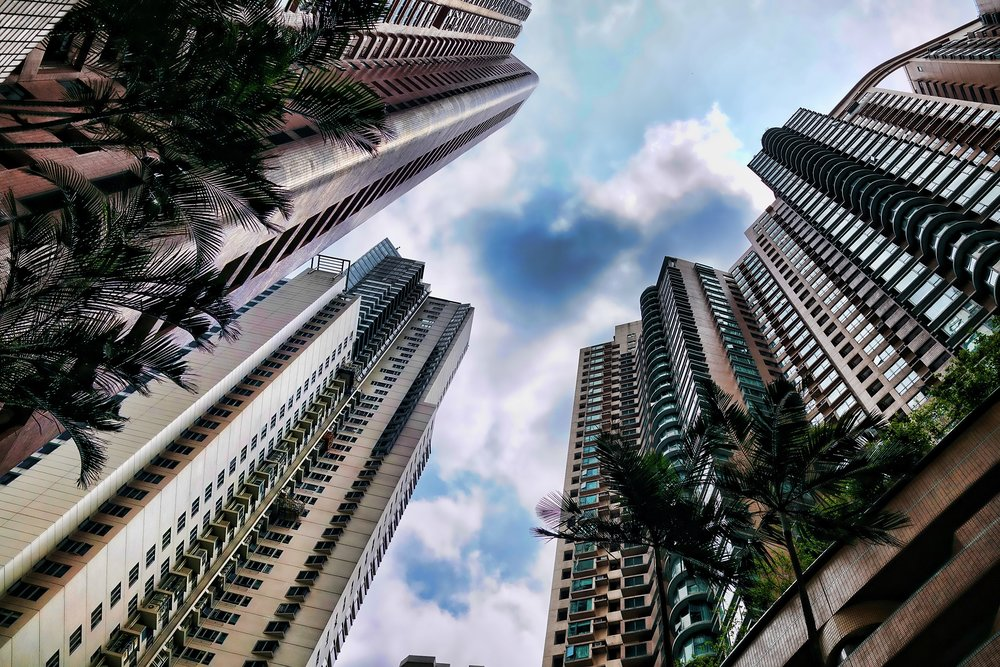 Upper Middle Class Apartment Blocks, the Mid Levels, Hong Kong -