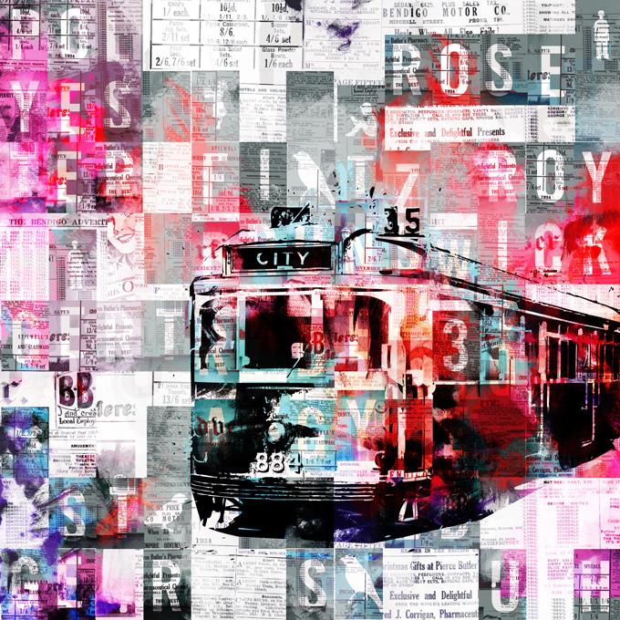 City 35, 2010   Archival pigment print   100cm x 100cm   135cm x 135cm