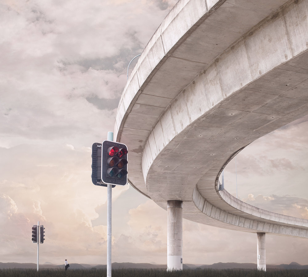 Overpass (II)   Pigment print on archival rag   110cm x 100cm 1/7 +2AP 143cm x 130cm 1/3 + 1AP    Represented by Otomys Arthouse