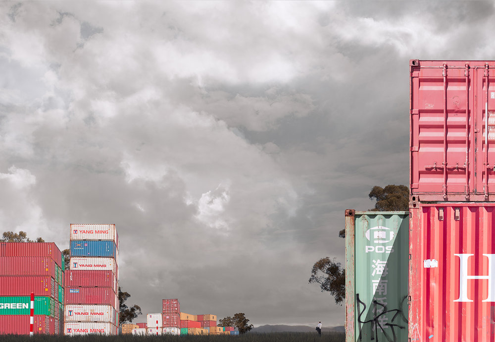 Container Ch0ange   Pigment print on archival rag   110cm x 155cm, 1/7 +2AP   140cm x 195cm,  1/3 + 1AP   Represented by Otomys Arthouse