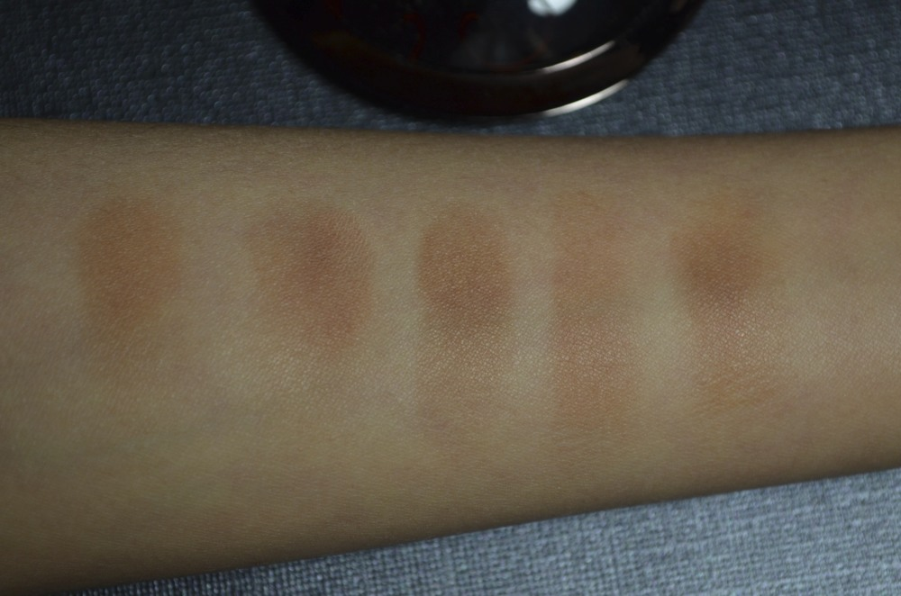 Guerlain 4 Seasons bronzer swatches