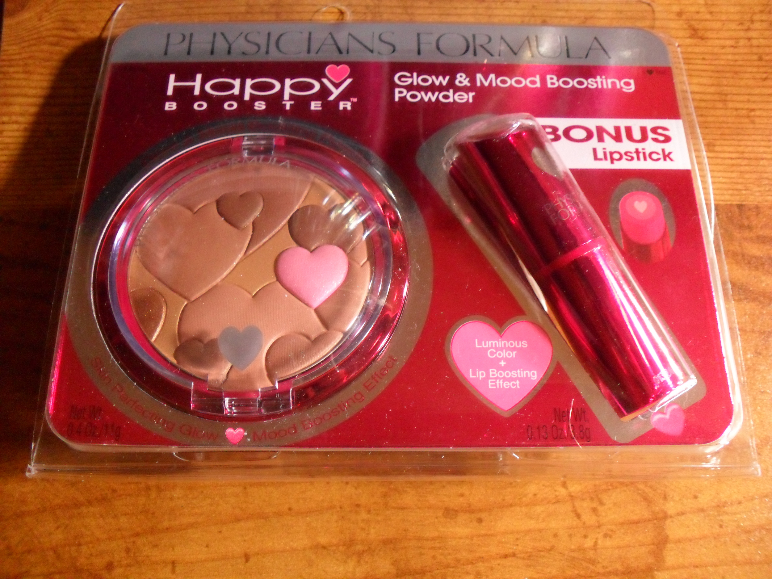 physician's formula happy booster bronzer and lipstick