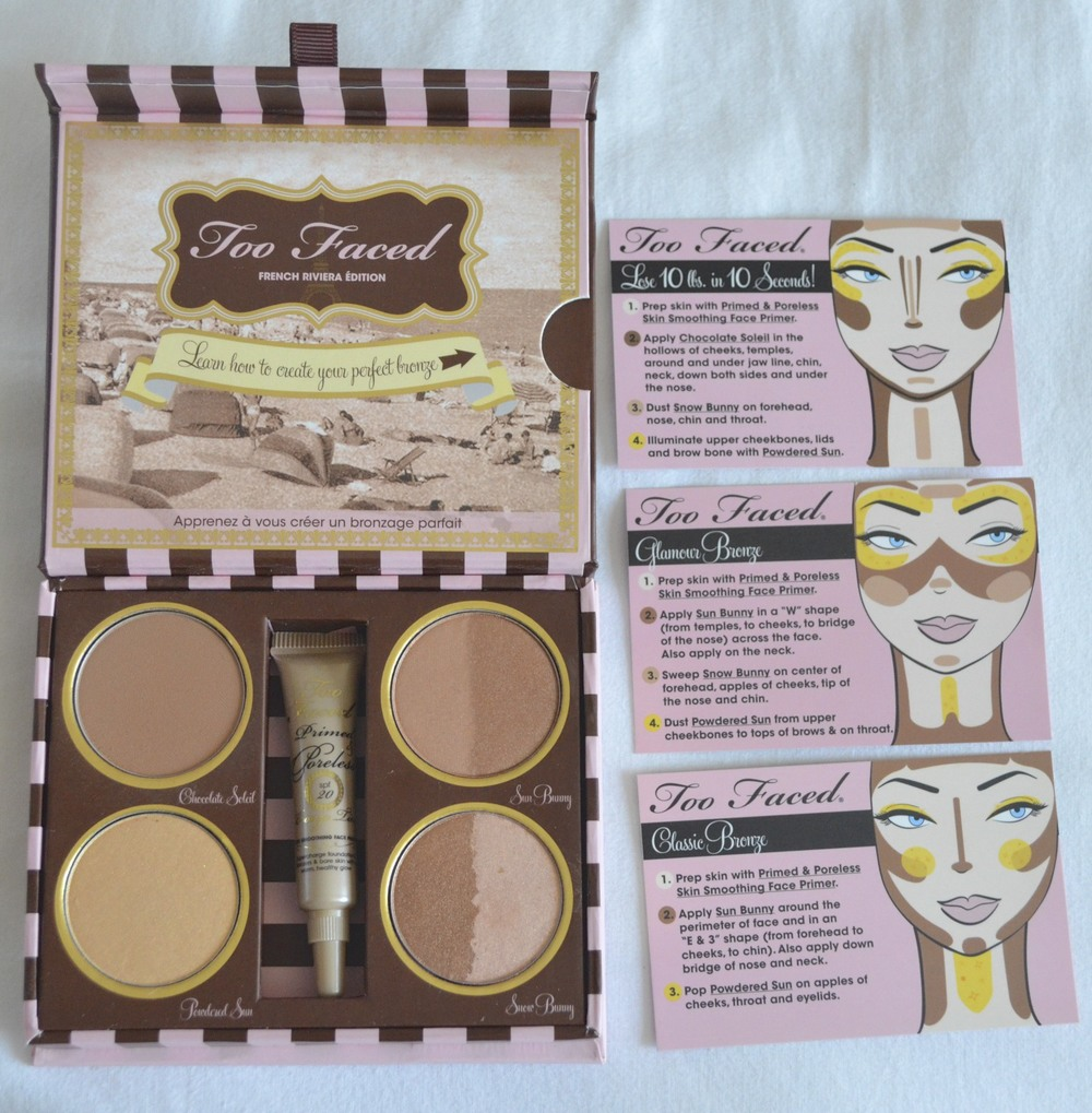 too faced bronzer kit with instructions