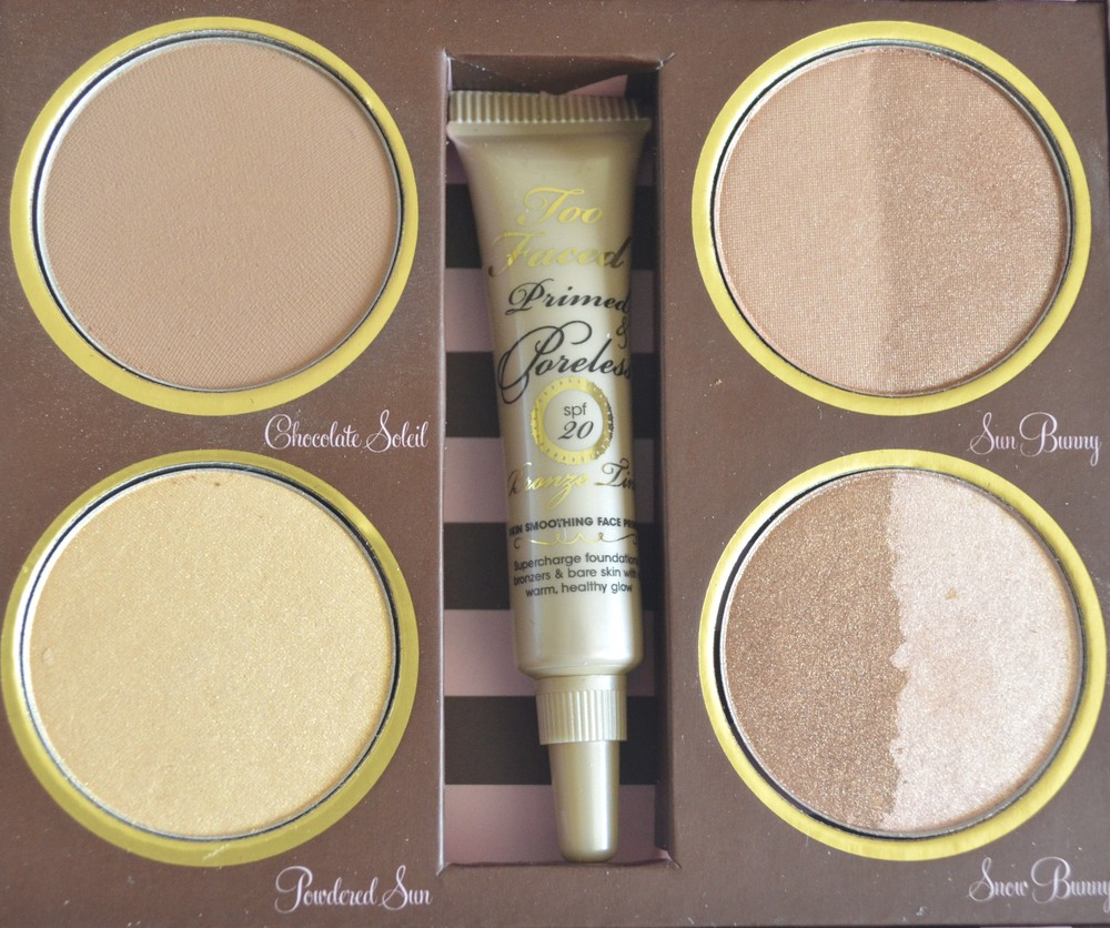 too faced bronzer kit closeup