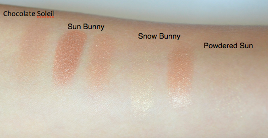 too faced bronzer kit swatches