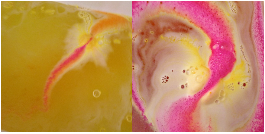 lush enchanter bath bomb colors