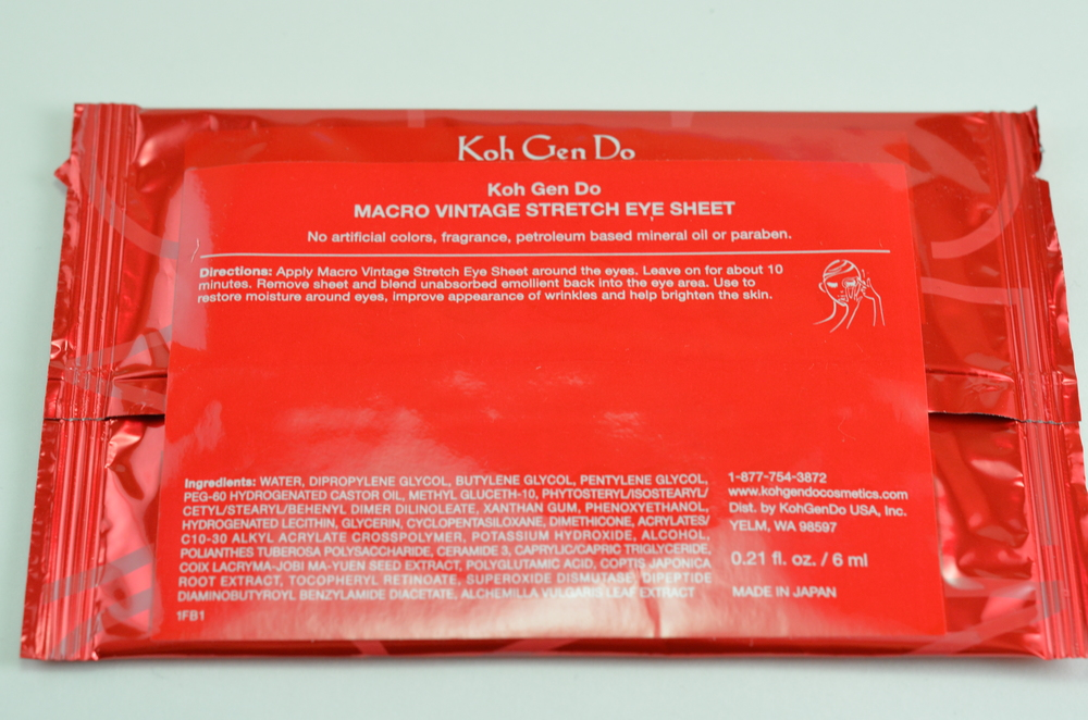 koh gen do macro vintage stretch eye sheet instructions ingredients