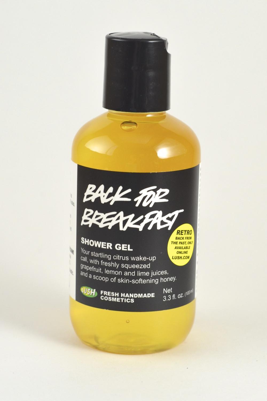 lush back for breakfast shower gel review