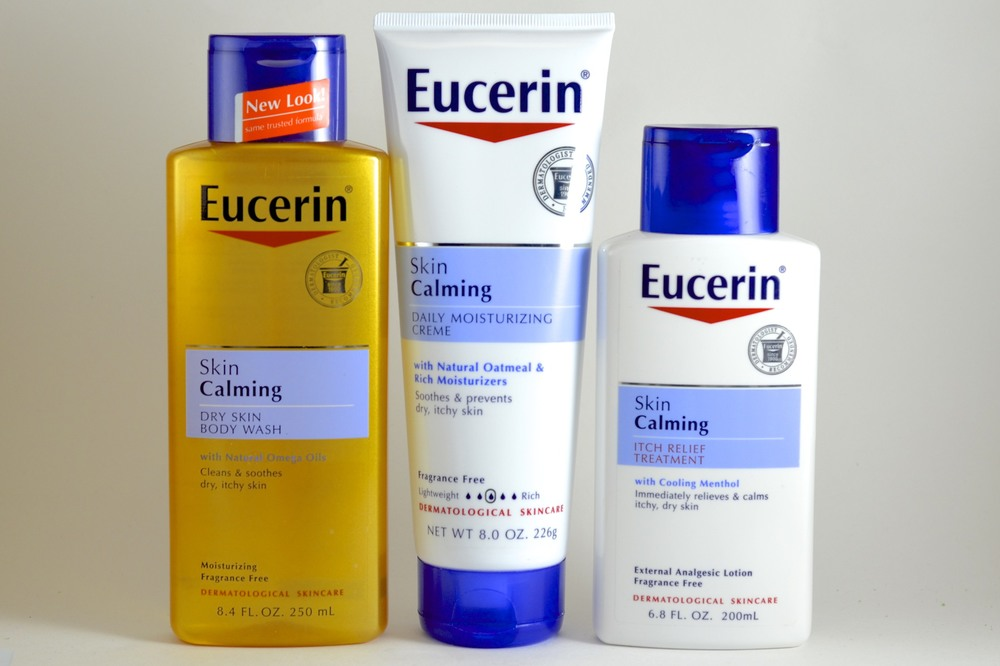 eucerin skin calming review, eucerin skin calming dry skin wash review, eucerin skin calming moisturizer review, eucerin skin calming itch relief treatment review