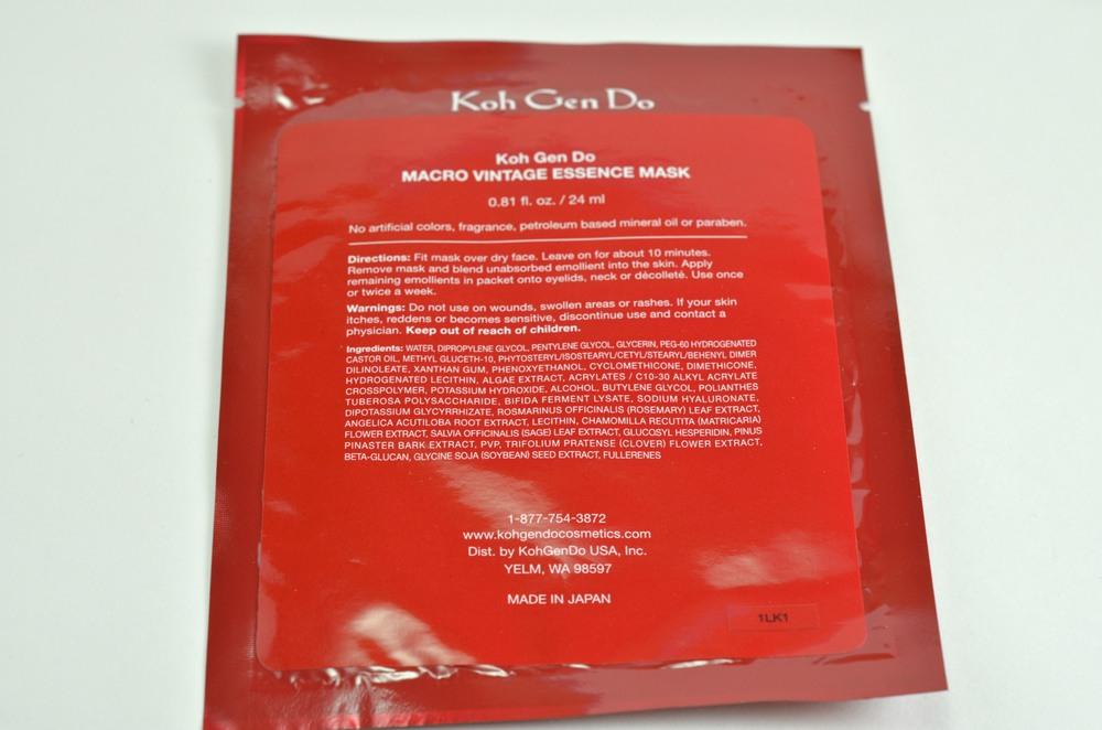 Koh gen do macro vintage essence mask review