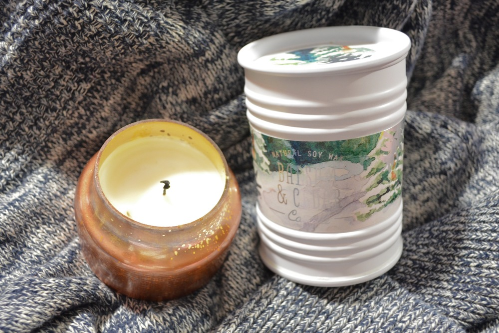 anthropologie candles, capri blue fir and cedar candle review, natural soy balsam and cedar candle review