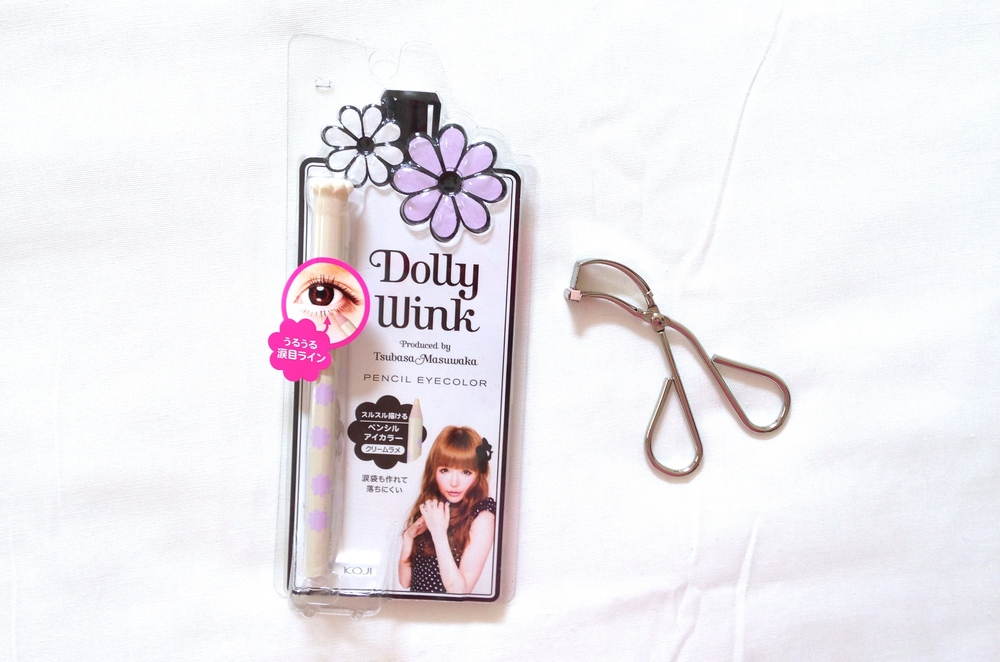 Dollywink Pencil Eyeliner review, Koji eyelash curler review