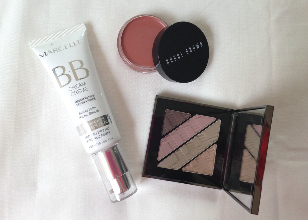 Marcelle BB Cream, Bobbi Brown Pot Rouge, Burberry Pink Taupe