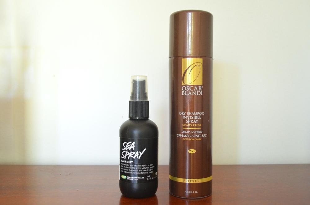 Lush Sea Spray, Oscar Blandi Invisible Dry Shampoo