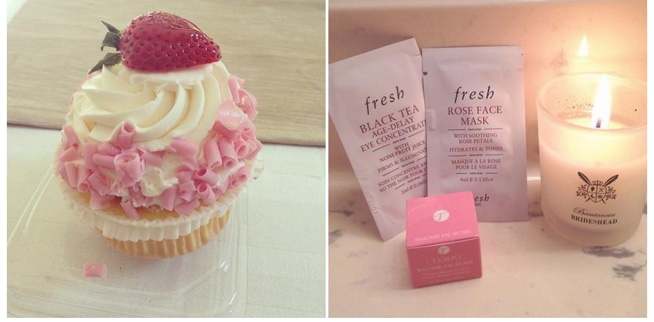 Birthday cupcake! // A good start to #JuneSampleMonth