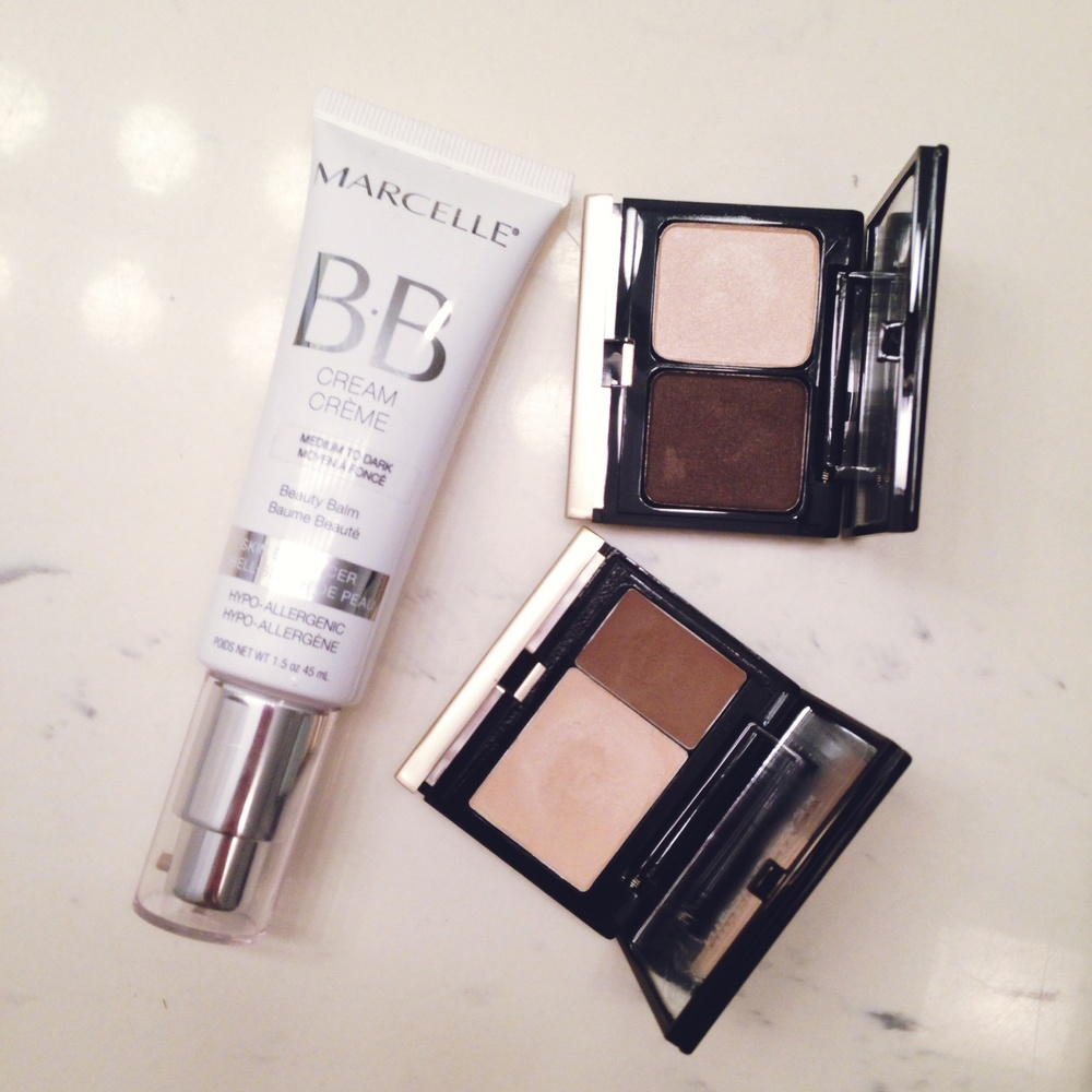 Day 9 - Marcelle BB Cream, Kevyn Aucoin Eyeshadow Duo, Kevyn Aucoin Creamy Glow Duo