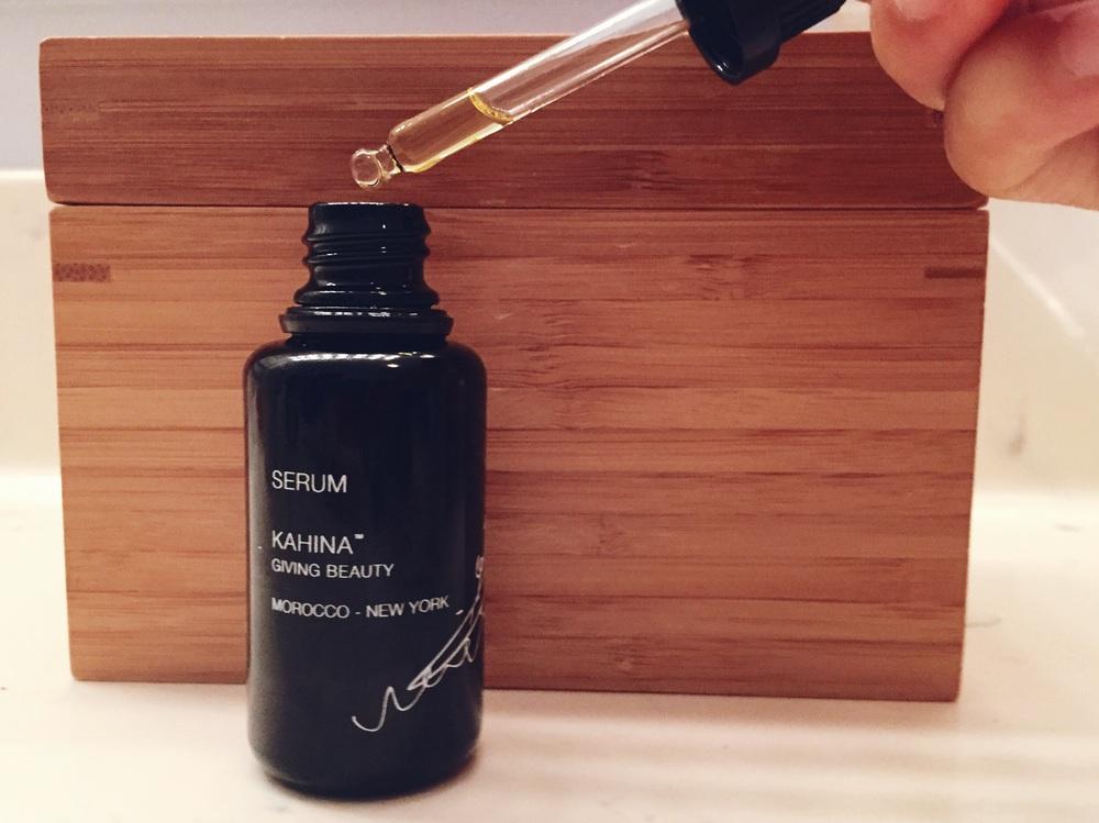 kahina giving beauty serum review