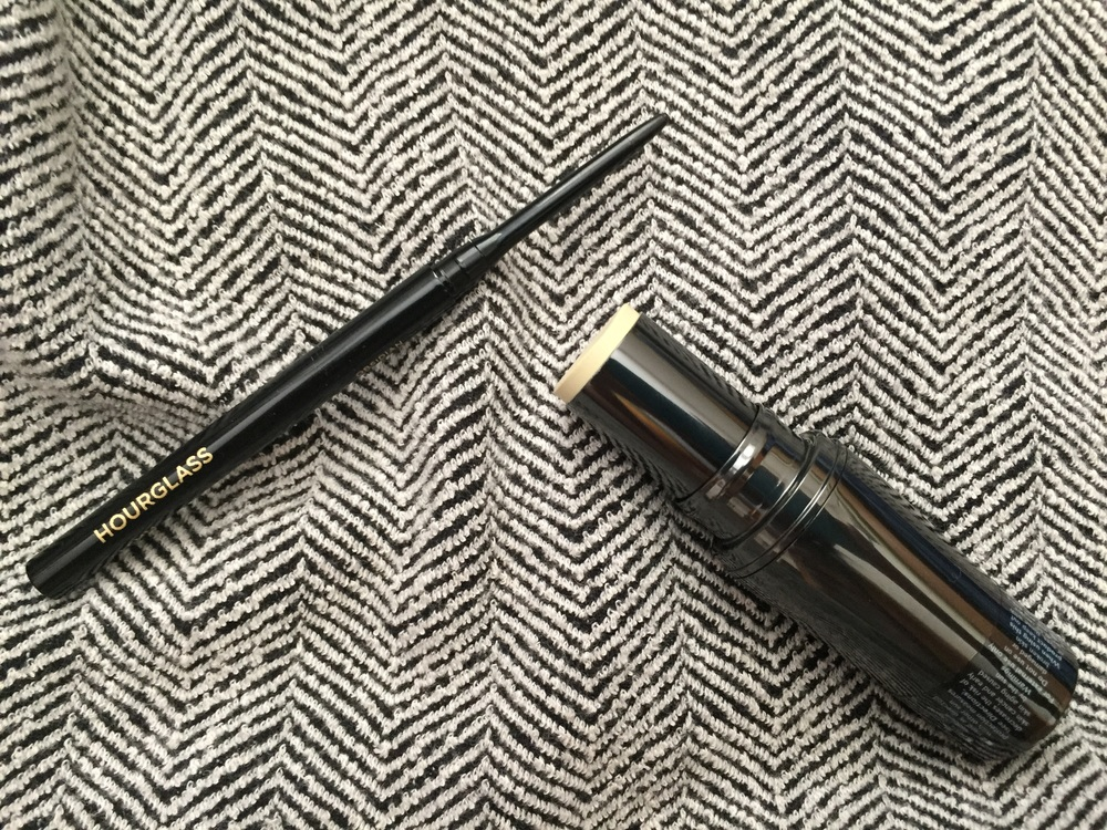 Hourglass 1.5mm Gel eyeliner review, shiseido the makeup stick foundation in control color review