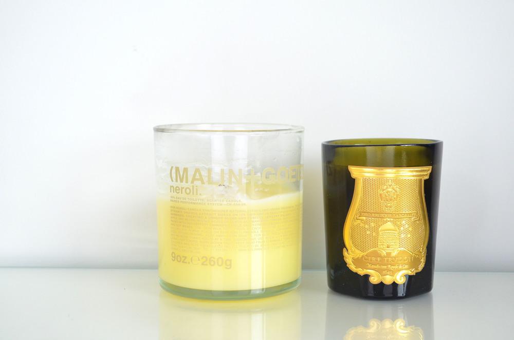 Malin + Goetz Neroli Candle, Cire Trudon Dada Travel Size Candle