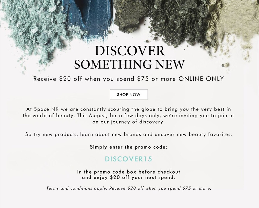 Fall 2015 Space NK Promo Code