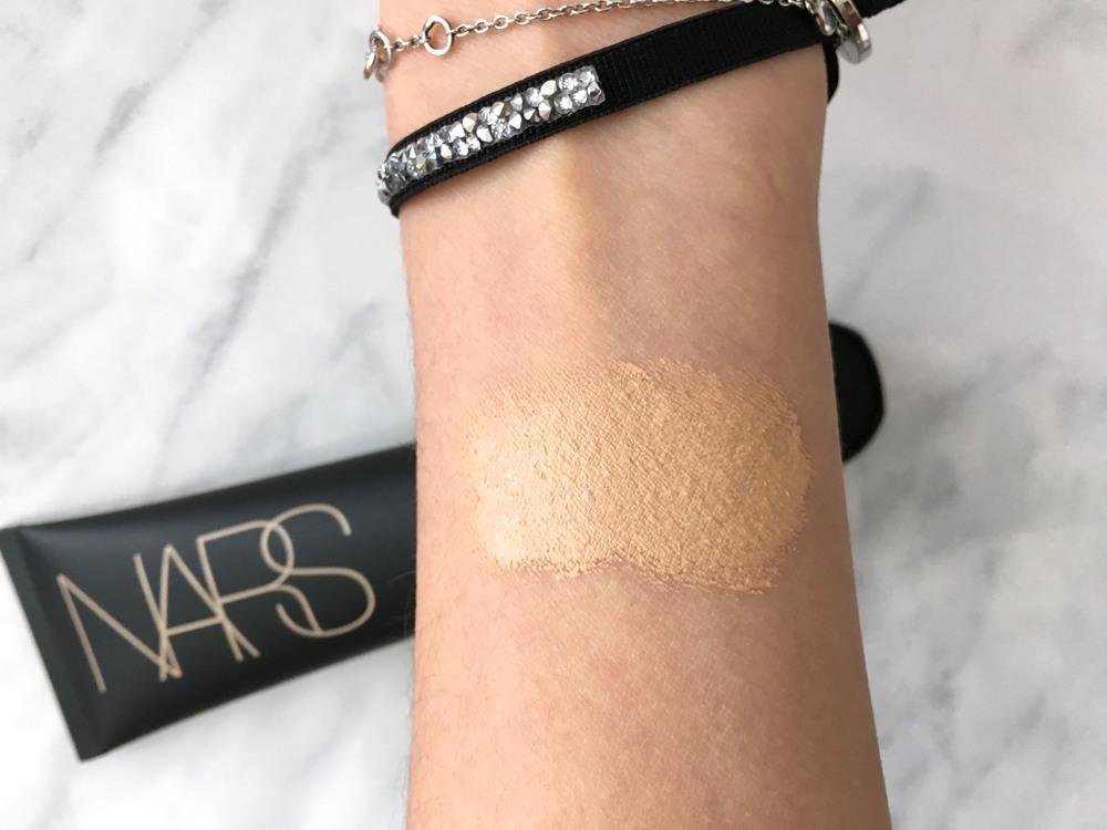 Swatch: Nars Velvet Matte Skin Tint in St. Moritz