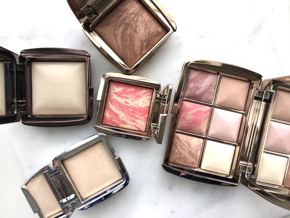 Hourglass Ambient Bronzer in Radiant Bronze Light, Ambient Lighting Powder in Diffused, Ambient Lighting Blush in Diffused Heat, Ambient Strobe Lighting Powder in Brilliant, Ambient Edit Palette