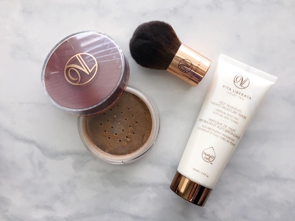 Vita Liberata Trystal™ Self Tanning Bronzing And Kabuki Brush Duo, Vita Liberata Self Tanning Night Moisture Mask