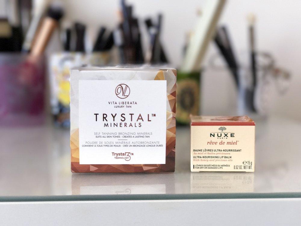 Vita Liberata Self Tanning Bronzing Minerals, Nuxe Reve de Miel Ultra Nourishing Lip Balm