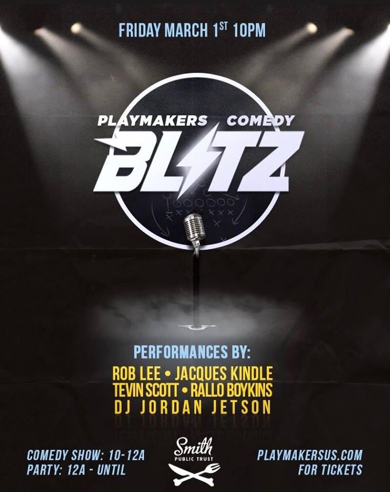 Comedy Blitz Friday, March 1st 1o:oopm-12:ooam Smith Public Trust | 3514 12th St. NE | Washington, DC 20017   Tickets