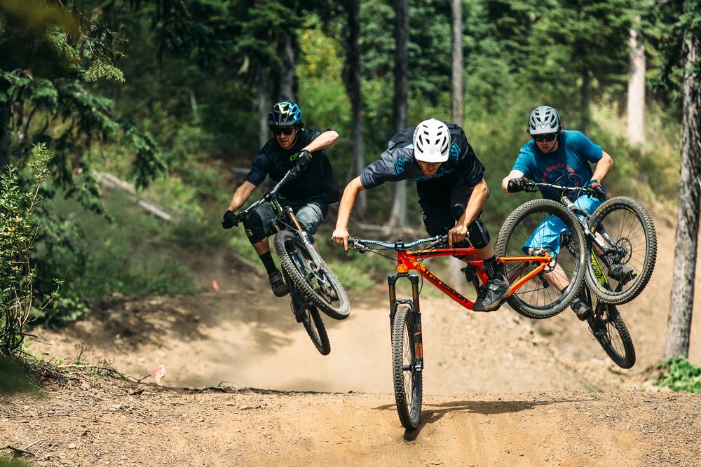 Three Amigos:Bas Van Steenbergen, Tyler McCaul, Noah Brousseau - Silver Star Bike Park, BC