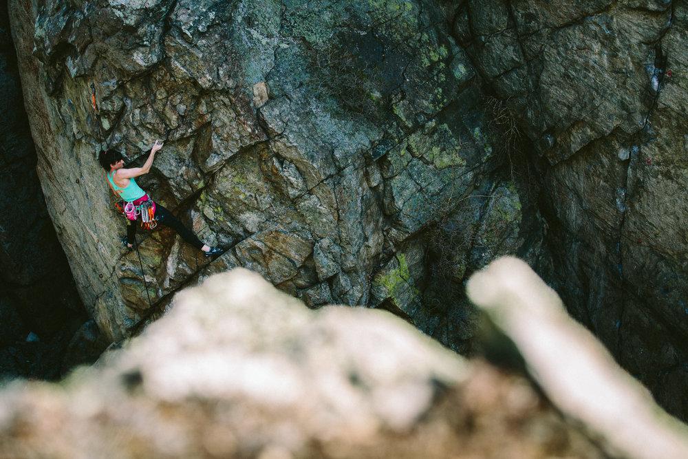 Sara Leanne Hart - skaha climbing