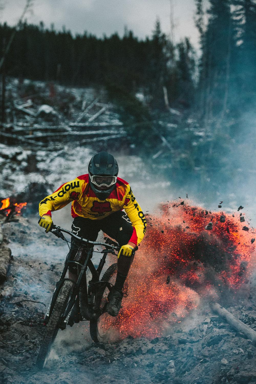 Harrison Mendel on Fire in Kelowna, BC