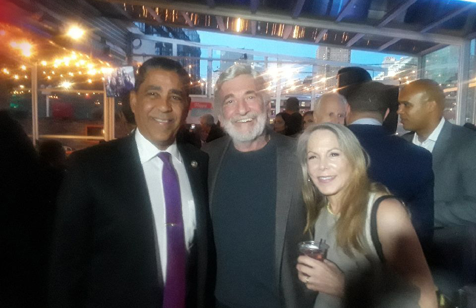 U.S. Congressman Adraiano Espaillat recently celebrated his birthday with good friends Jerry Migdol and Sheri Perl Migdol.