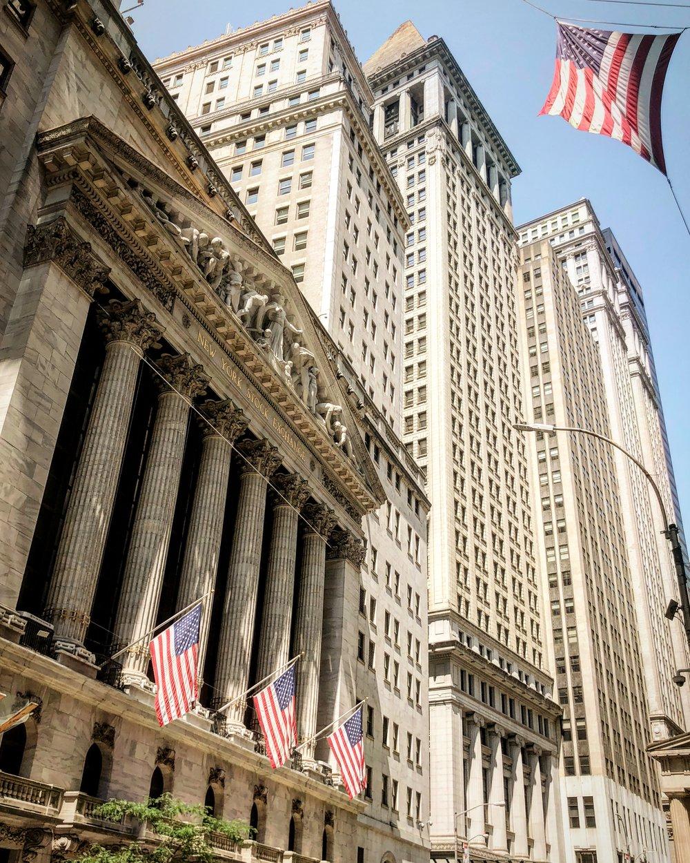 New York Stock Echange and Wall Street