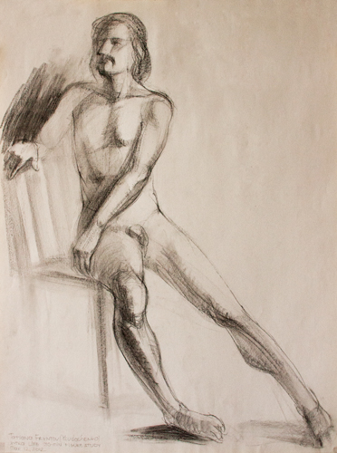 40-minute study of a male figure