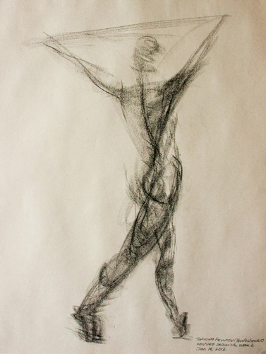 3-minute gesture drawing of a female figure