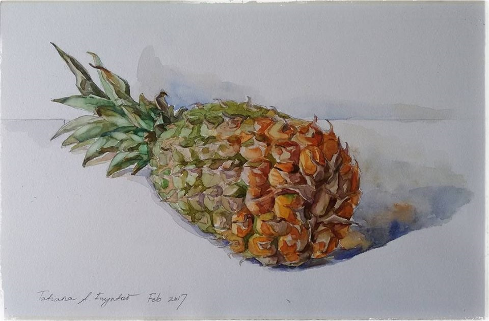 Mini still-life with a pineapple. 2017